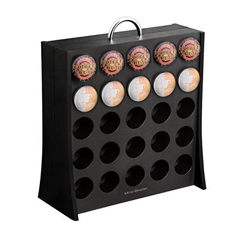 Mind Reader Coffee Pod Storage Rack, Holds 50 K-Cup Coffee Pods, Self Locking, Black