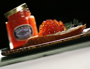 1.75 Ounce Jar Smoked Wild Salmon Caviar (Salmon Cream Smoked Cheese)
