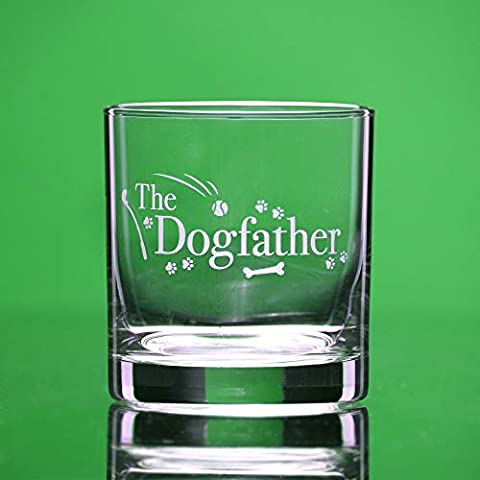 Dog Lover Gifts – The Dogfather – Whiskey Glass For Dog Dads