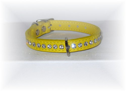 (OmniPet Signature Leather Crystal and Leather Dog Collar, 14