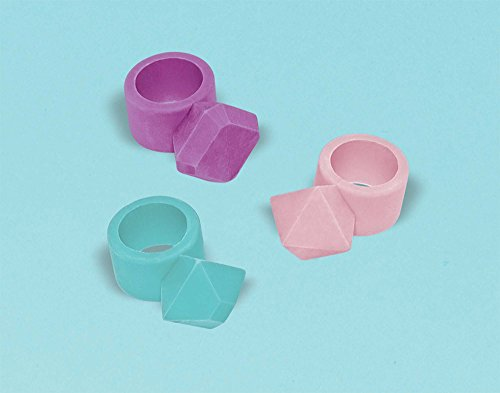 Amscan 397829 Fun-Filled, Ring Eraser, Supplies, Multicolor, 1 1/2