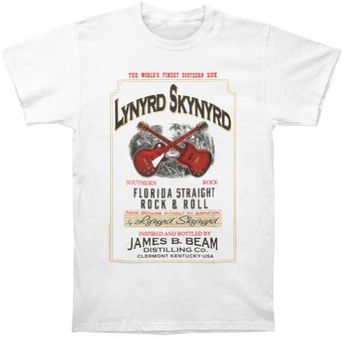 FEA - Camiseta - Hombre de color Blanco de talla X-Large - Rockabilia Lynyrd Skynyrd JB Whiskey (Camiseta) X-Large Bianco: Amazon.es: Ropa y accesorios
