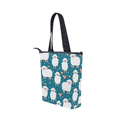 MyDaily Cute Sheep Tote Handbag Bag Shoulder Womens Canvas Cartoon qxwvWrqIHU