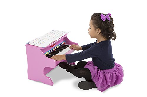 Melissa & Doug Learn-to-Play Pink Piano With 25 Keys and Color-Coded Songbook by Melissa & Doug