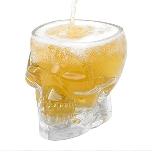 New Crystal Skull Head Vodka Whiskey Shot Glass Cup Drinking Ware for Home Bar by Randall Elliott