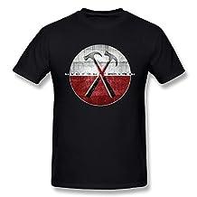 Jasmincc Men's Roger Waters The Wall Album Posters Tshirts Black Large