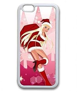 Iphone 6 TPU Supple Shell Case Christmas Girl White Skin by Sallylotus