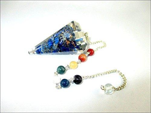 Lapis Lazuli Pendulum - Jet Lapis Lazuli Orgone Pendulum 2 inch Jet International Crystal Therapy Healing Power Peace Prosperity Divine Gemstone