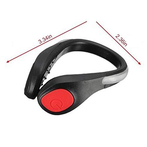 Corsa Per Di Bicicletta Notturna Da Luci Sicurezza Scarpe Bambini Adulti Scarpa Led Clip Notturni Riflettente Con Aimdonr Rosso 1 E Luminosi Scarpe Luminoso Avvertimento xnwCOaF8xq
