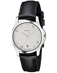 Gucci Quartz Stainless Steel and Leather Casual Watch(Model: YA126574)