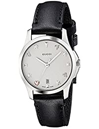 Quartz Stainless Steel and Leather Casual Watch(Model: YA126574)