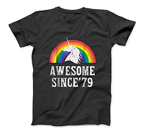 Unicorn 40th Birthday Gift Rainbow 1979 40 Years Old T Shirt