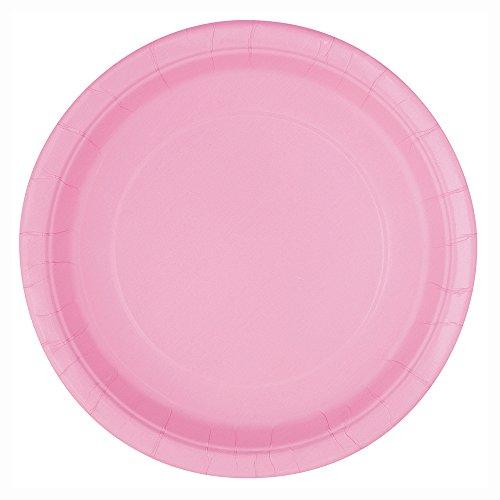 Light Pink Paper Plates 25ct  sc 1 st  Amazon.com & Plastic Disposable Dinner Plate Pink: Amazon.com