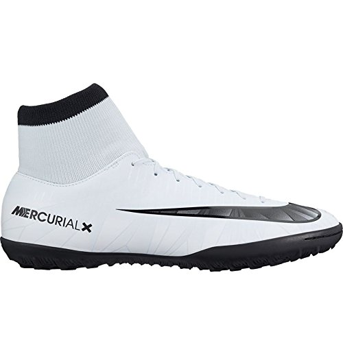 Nike Mercurial Victory VI CR7 DF TF Turf Men Soccer Shoes - Silver Size: 12 (Soccer Men Shoes Turf)