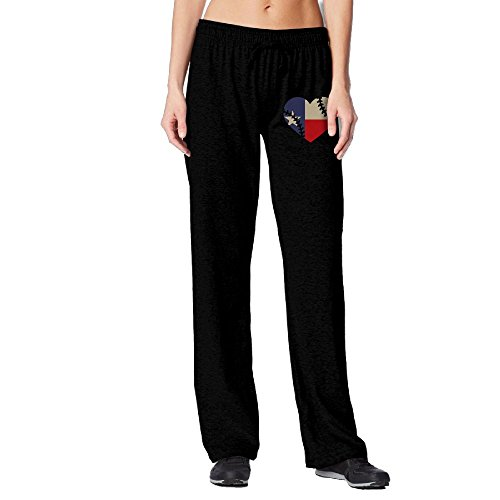 PAT-11 Texas State Flag Baseball Lace Women's Sport Elastic Waist Jogger Sweatpants For Workout   Beam Trousers (Texas Workout Pants)