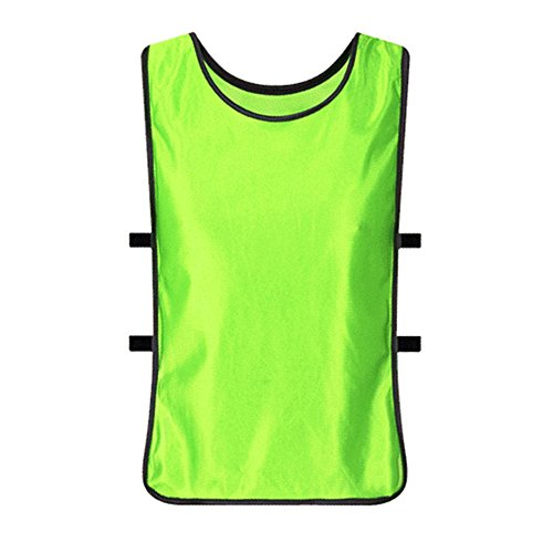 Set of 12 Adult Football Training Vest Soccer Jerseys Football Vest Soccer Training Vest Sports Pinnies Against clothing (Green, Adult) (Football Set Adult Uniform)