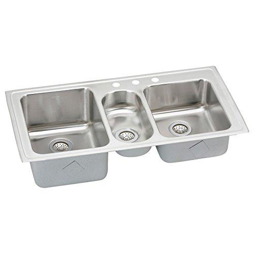 Elkay LGR43223 Sink Triple-Bowl Stainless Steel ()