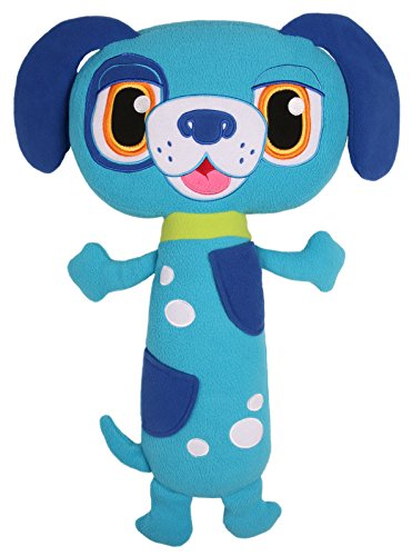 Jay at Play Seat Pets (Blue Dog) by As Seen on TV - Kids Seat Belt Car Travel Pillow and Plush Animal Toy – Compatible with Any Safety Belt to Provide Head & Neck Support
