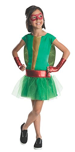 Raphael Deluxe Girls Costumes (Teenage Mutant Ninja Turtles Deluxe Raphael Tutu Dress Costume with Bracelet for Mom (med 5-7 years with Bracelet for)