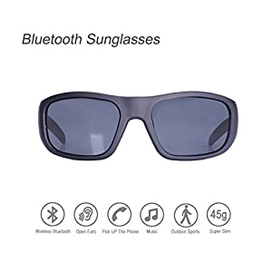 Bluetooth Sunglasses,Open Ear Wireless Sunglasses With Polarized UV400 Protection Safety Lenses,Unisex Design Handfree Headset for All Editions of iPhone/Samsung and Smart Phone