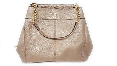 Coach Handbag Coach Purse (Coach Lexy Pebble Leather Shoulder Bag (Platinum Gold))