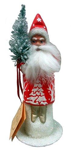 Ino Schaller Halloween (Pinnacle Peak Trading Company Ino Schaller Red Bearded Forest Scene Santa German Paper Mache Candy)
