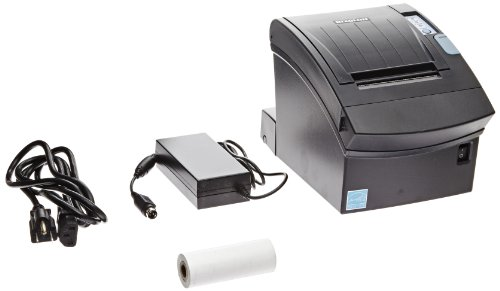 BIXOLON Monochrome Desktop Direct Thermal Receipt Printer with Parallel Interface, 7.87 in/s Print Speed, 180 dpi Print Resolution, 3″ Print Width, 24 VDC, Black