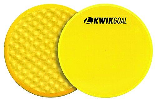Kwik Goal Flat Round Marker (Pack of 10), Yellow