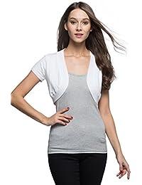 Trendy Short Sleeve Shrug Open Cardigan