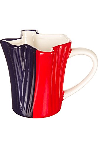 State of Texas Shaped Red White and Blue Coffee Mug 12 ounces