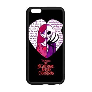 Love Heart Quotes The Nightmare Before Christmas Custom Cover Case for iPhone6 Plus 5.5 (Laser Technology)