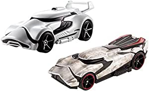 Hot Wheels Star Wars: The Force Awakens Character Car 2-Pack, First Order Stormtrooper vs. Captain Phasma