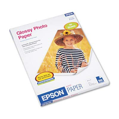 Epson Photo Paper - Letter - 8.50quot; x 11quot; - 52 lb - Glossy - 92 Brightness - 50 / Pack - White