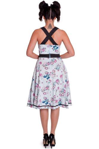 Hell Bunny - Rockabilly Kleid Super Honey 50s Dress hellblau (XS-XL)