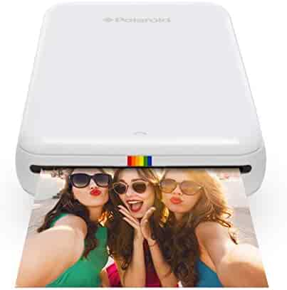 Polaroid ZIP Wireless Mobile Photo Mini Printer (White) Compatible w/ iOS & Android, NFC & Bluetooth Devices