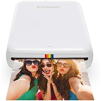 07984b8aab779 Polaroid ZIP Wireless Mobile Photo Mini Printer (White) Compatible w/ iOS &  Android, NFC & Bluetooth Devices