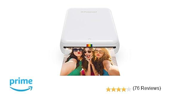 Polaroid Zip - Impresora móvil, Bluetooth, Nfc, micro USB, tecnología Zink Zero Ink, 5 x 7.6 cm, compatible con iOS y Android, blanco, 2.2 x 7.4 x 12 ...