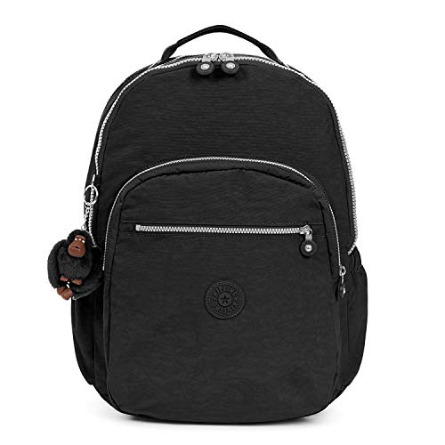 (Kipling Seoul Go Laptop, Padded, Adjustable Backpack Straps, Zip Closure, Black Print Combo)