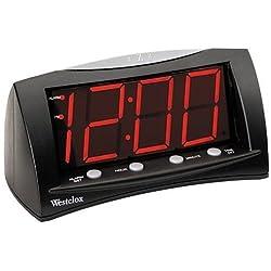 Red Display LED Alarm Clock, Black