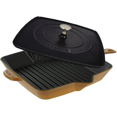 Staub Square Grill Pan & Press Set - Saffron - 12 by Staub