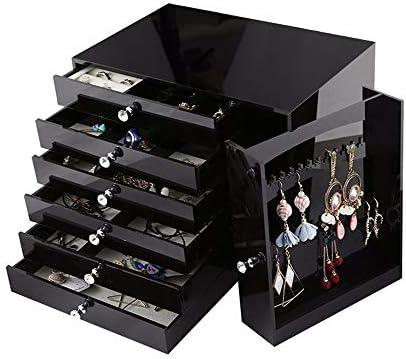 Estuche de joyería para pendientes Ampliación de la caja de joyería joyería Organizador con cajón Vestir joyería Tabla Estuche de viaje caja de regalo de bodas regalo de cumpleaños de almacenamiento: Amazon.es: