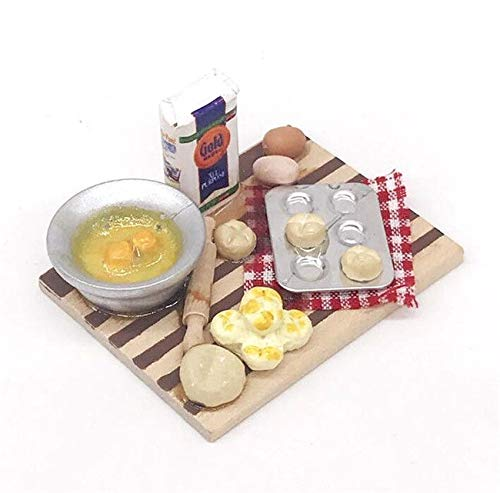 1:12 Dollhouse Miniature Kitchen Doll Food Chopping Snack Bread Board Table ~ from Brosco