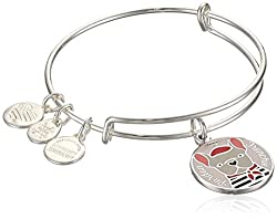 Alex & Ani Color Infusion, Pardon My Frenchie Ewb, Shiny Silver, Expandable