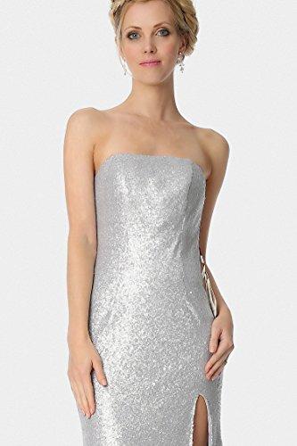 SEXYHER vestido de formal de trompeta seda lentejuelas plata sirena de noche Silver EDJ1811 qqwSaA