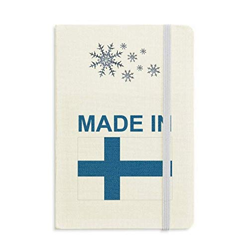 - Made In Finland Country Love Notebook Thick Journal Snowflakes Winter