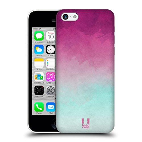 Head Case Designs Purpur Und Hell Blau Aquarell Ombre Snap-on Schutzhülle Back Case für Apple iPhone 5c