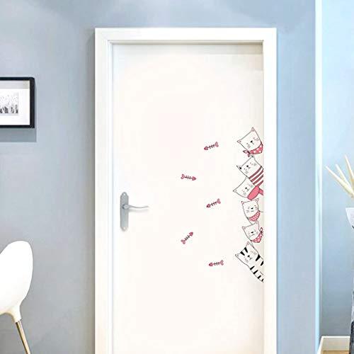 AIUSD Clearance , Lovely Cat Bathroom Home Decor Wall Sticker Decal Bedroom Door Vinyl Art Mural