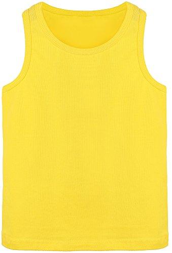 Lilax Girls' Racerback Tank Top 4T Yellow