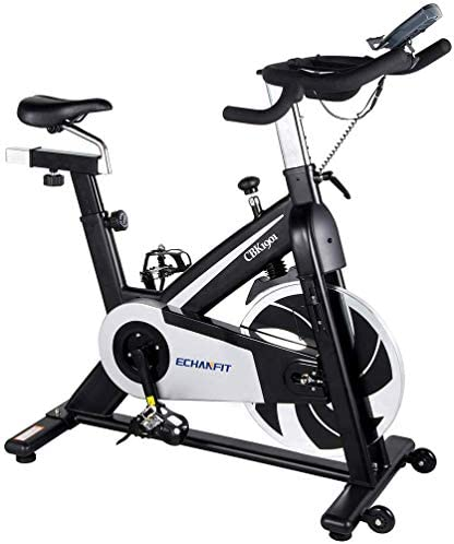 MIERES Cycling Exercise Bike, Magnetic Belt Drive Indoor Bike, Home Gym Trainer