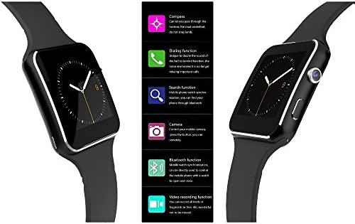 Pcjob Smartwatch X6 Bluetooth, Cámara de Fotos y Soporte SIM ...